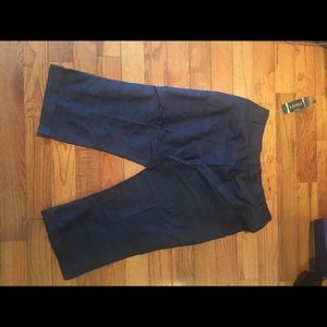 Ralph Lauren Navy Blue Capri Pant, sz 12, NWT $119